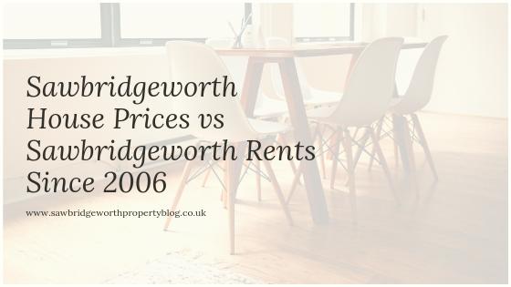 Sawbridgeworth House Prices vs Sawbridgeworth Rents since